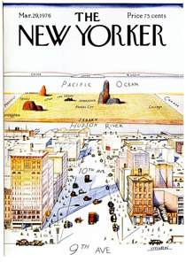 The New Yorker magazine cover, View of the World from 9th ...