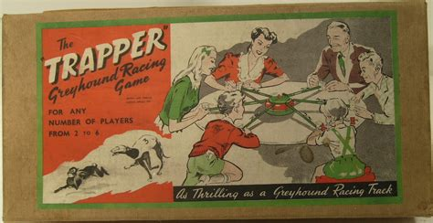 vvrare  tin plate trapper greyhound racing game