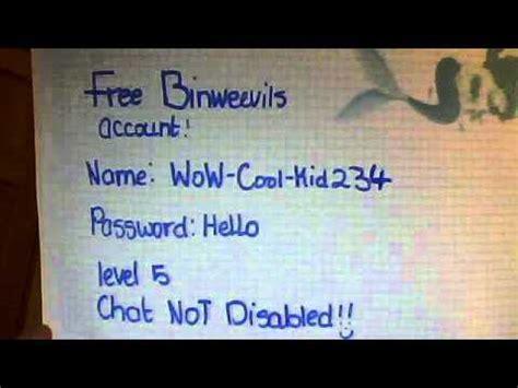 binweevils accounts youtube