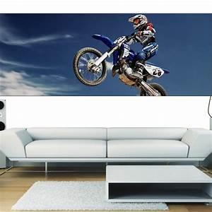 Papier Peint Sticker : papier peint panoramique moto cross stickers autocollants ~ Premium-room.com Idées de Décoration