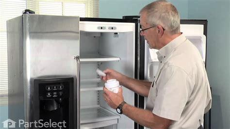 refrigerator maintenance changing ice water filter ge part mwf youtube