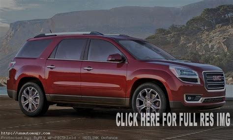 gmc acadia redesign release date  prices