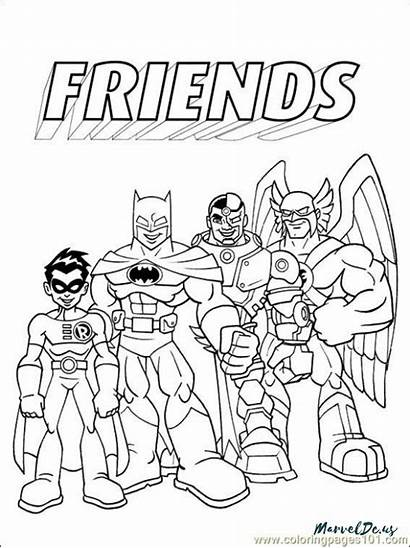 Coloring Dc Pages Marvel Comics Printable Future