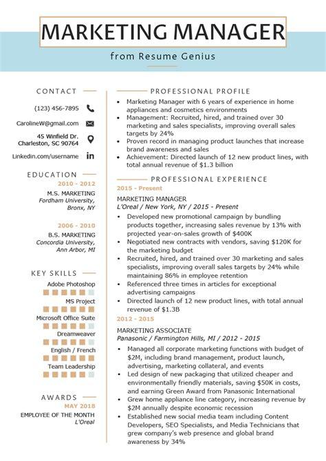 marketing manager resume  writing tips rg