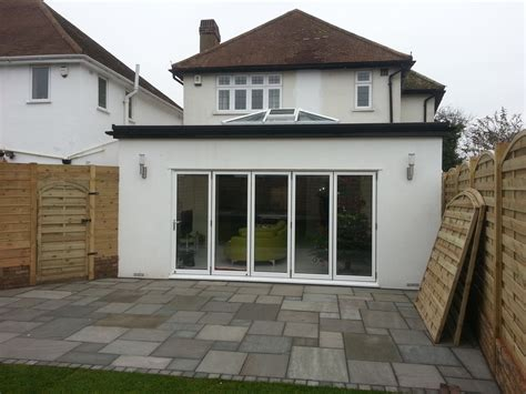 roof extension ideas rear kitchen and dining room extension in sidcup with bifold doors and roof lantern extension