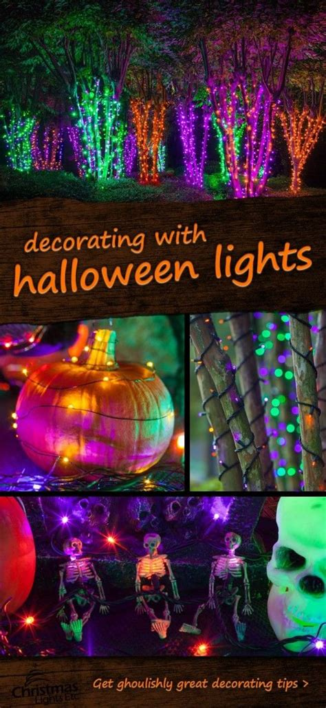 halloween light decorating ideas pictures