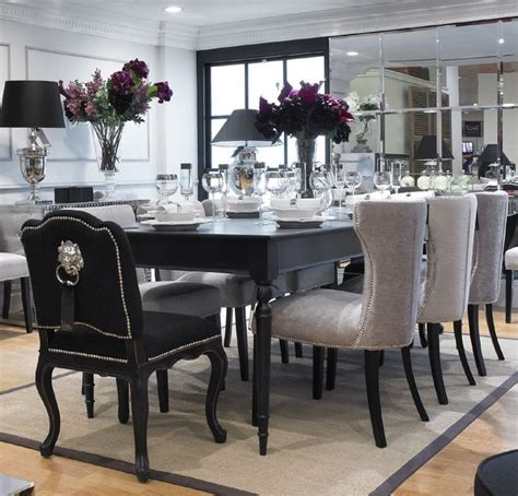 Black Dining Table by Extending Black Dining Table 8 Chairs Special Offer
