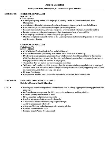 Child Care Resume Skills by Resume For Child Care Sle Sles Velvet