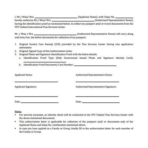 sample passport authorization letters
