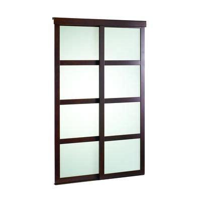 veranda   espresso framed frosted sliding door