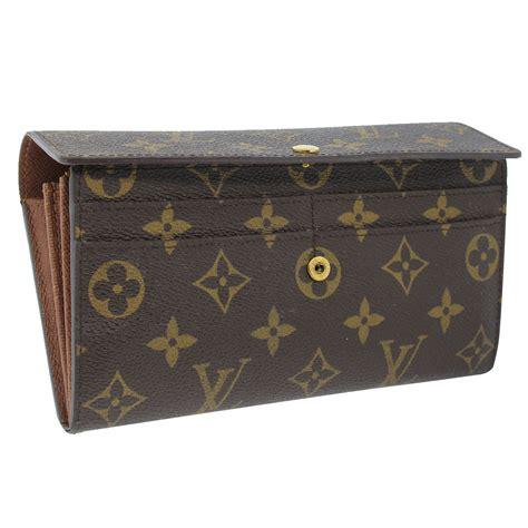 authentic louis vuitton sarah monogram canvas wallet