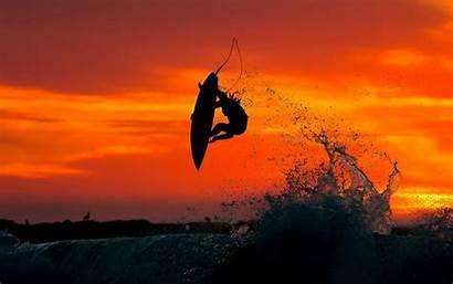 Sunset Surf Background Jump Berbere