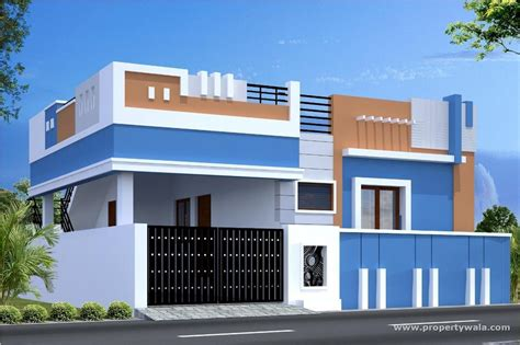 Front Elevation Individual House Chennai