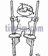 Stilts Drawing Timtim Coloring Drawings Parents sketch template