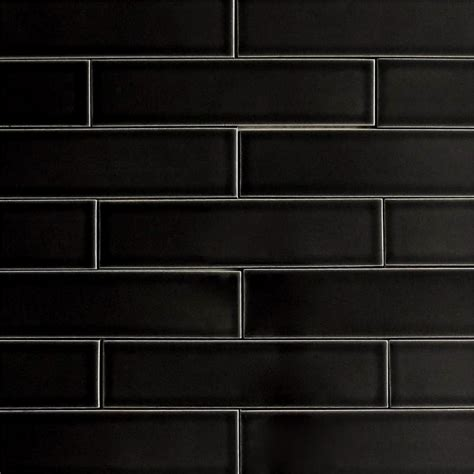 2x8 ceramic subway tile ceramic subway tile glossy black color licorice modwalls