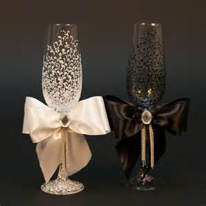 wedding glasses wedding chagne glasses ideas