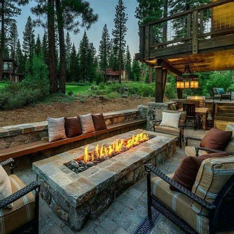 outdoor patios with pits outdoor patio with rectangular firepit house ideas pinterest outdoor patios patio and