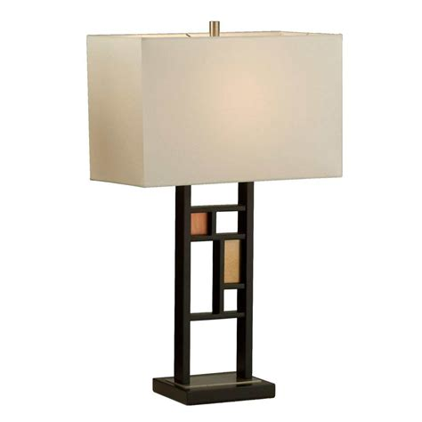 Contemporary Table Lamp With Cream Linen Nl086  Floor & Table