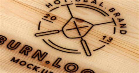 wood burning logo mock  template psd mock  templates pixeden