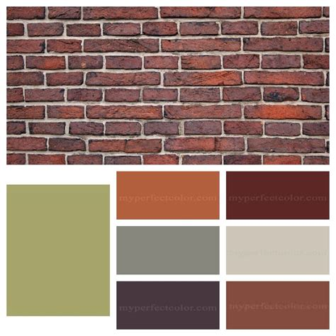 paint accent colors that complement orange brown brick