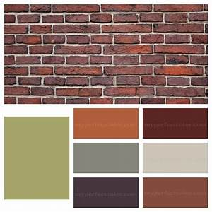 Paint accent colors that complement orange brown brick ...
