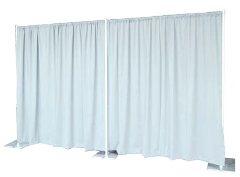 pipe drapes backdrop kit 8 ft x 20 ft wide pipe and drape