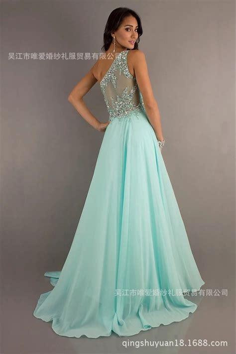 jual long dress hijau tosca gaun malam usher pesta