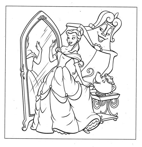 printable belle coloring pages  kids