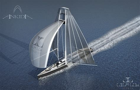 Boat Wind Turbine by Eco Boats Lila Lou Unveils Ankida A Wind Powered Yacht