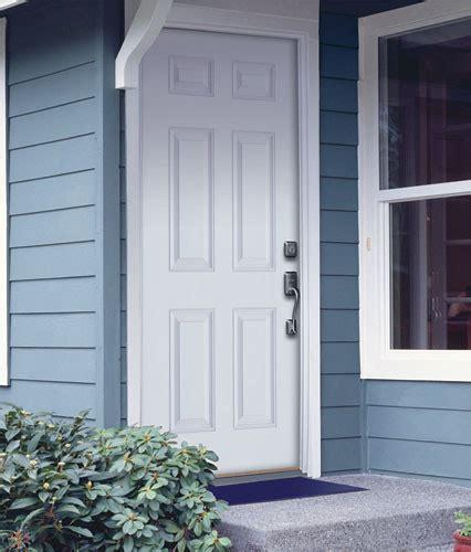 feather river door fiberglass entry doors  panel smooth flickr