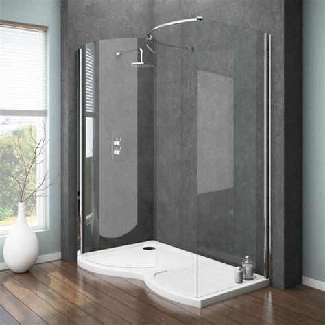 newark curved walk  shower enclosure  tray