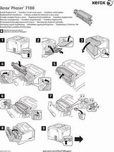 Xerox Phaser 7100 Users Manual Duplex Unit  Install