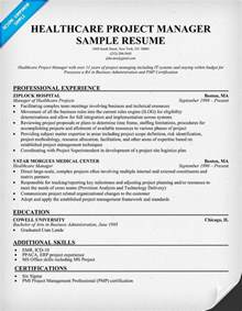 healthcare manager resume objective healthcare project manager resume exle http resumecompanion health resume