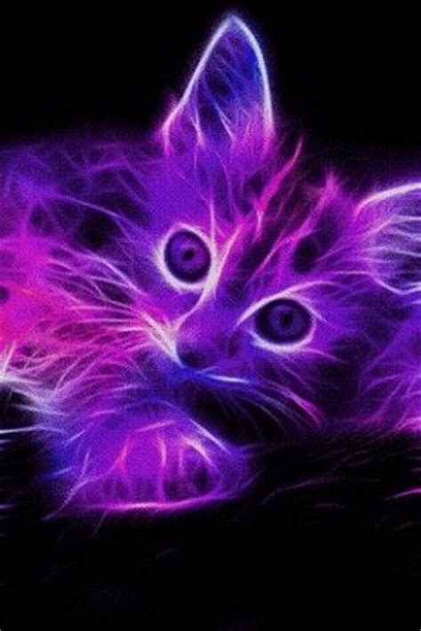 Neon Animal Wallpaper - neon animals view bigger neon kitten live wallpaper