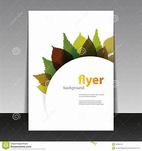 flyer or cover design autumn leaves stock vector image With book cover template illustrator