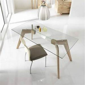 table a manger design transparente table originale With deco cuisine pour table de salle a manger en verre avec rallonge
