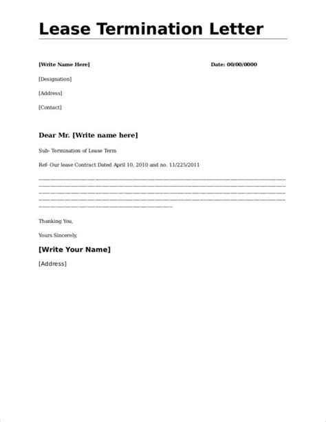 apartment lease termination letter what to include in a lease termination letter 20474 | Commercial Lease Termination Letter Template