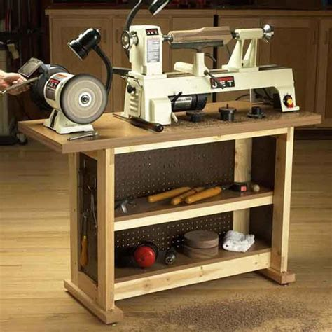 basic built simple sturdy tool stand woodworking plan