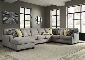 ivan smith cresson pewter left facing corner chaise sofa With harrison left facing sectional sofa