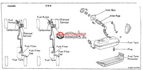 toyota truck  runner gasoline repair manual chapter  fuel system