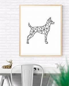 Wandbilder Wall Art : origami art geometric dog printable wall art by gabrielprintables animal printables ~ Markanthonyermac.com Haus und Dekorationen