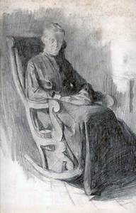 Woman In Rocking Chair By William Balfour Ker