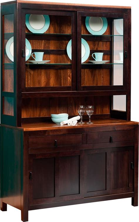 lillie contemporary hutch  dutchcrafters amish furniture