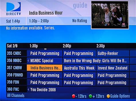 cranched    directvs programming guide racist