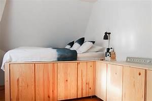 Hochbett Aus Europaletten : schlafzimmer 2 0 platz stauraum und ein unauff lliger ikea hack gute g te ~ Whattoseeinmadrid.com Haus und Dekorationen