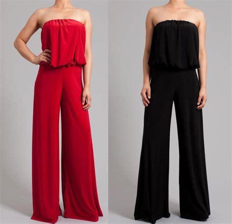 s dress jumpsuits plus size strapless wide leg palazzo suit