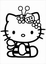 Coloring Kitty Hello Colouring Lmn8 Fairy Printable sketch template