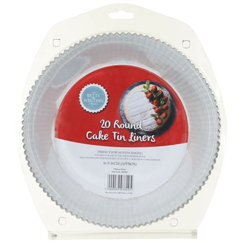 betty winters  cake tin liners pk bakeware bm