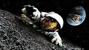 Astronaut On The Moon 743045 - WallDevil
