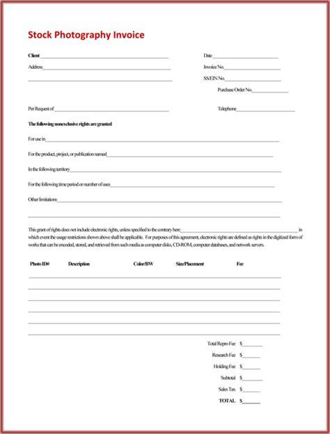 photographer invoice template  photographer invoice